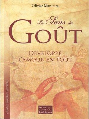cover image of Le sens du Goût