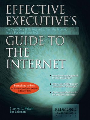 cover image of Effective Executive's Guide to the Internet