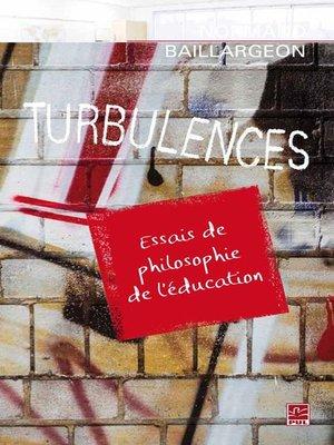 cover image of Turbulences