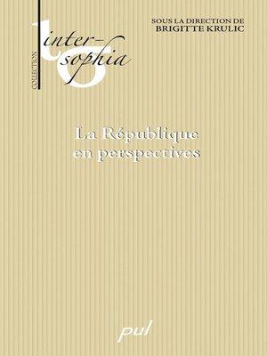 cover image of La République en perspectives
