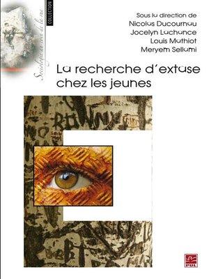 cover image of La recherche d'extase chez les jeunes