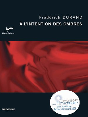 cover image of A l'intention des ombres