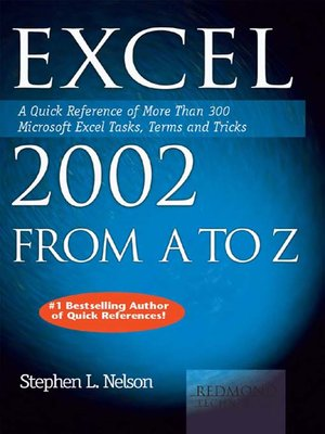cover image of Excel 2002 from A to Z