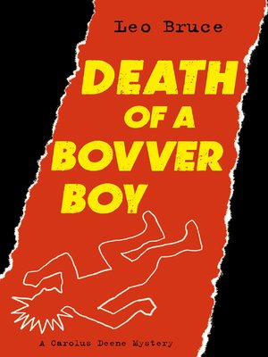 cover image of Death of a Bovver Boy