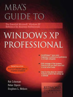 cover image of MBA's Guide to Windows XP Professional