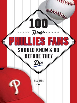 cover image of 100 Things Phillies Fans Should Know & Do Before They Die