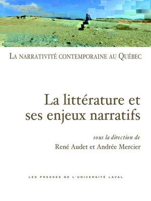cover image of Narrativité contemporaine au Québec 01