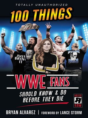 cover image of 100 Things WWE Fans Should Know & Do Before They Die