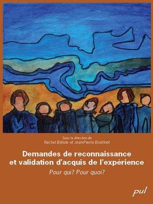 cover image of Demandes de reconnaissance et validation d'acquis...