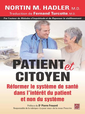 cover image of Patient et citoyen