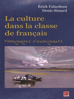 cover image of La culture dans la classe de français