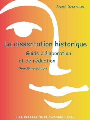 cover image of Dissertation historique 2e édi