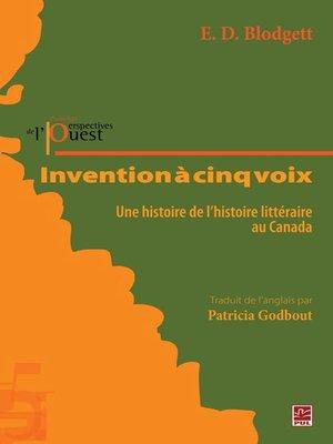 cover image of Invention à cinq voix