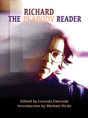 cover image of The Richard Peabody Reader