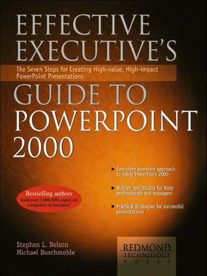cover image of Effective Executive's Guide to Microsoft PowerPoint 2000