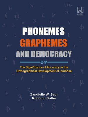 cover image of PHONEMES, GRAPHEMES and DEMOCRACY