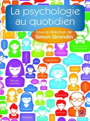 cover image of La psychologie au quotidien