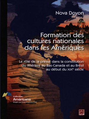 cover image of Formations des cultures nationales dans les Amériques