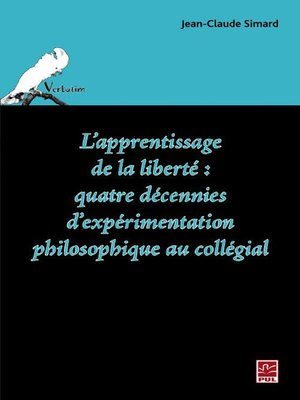 cover image of L'apprentissage de la liberté