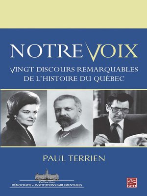 cover image of Notre voix