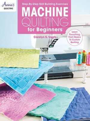 cover image of Machine Quilting for Beginners