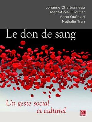 cover image of Le don de sang