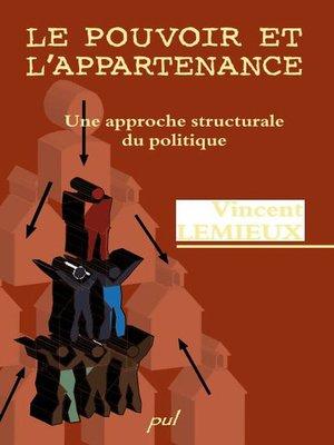 cover image of Pouvoir et l'appartenance le