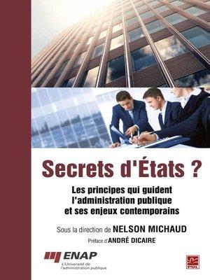 cover image of Secrets d'États ?