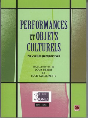 cover image of Performances et objets culturels