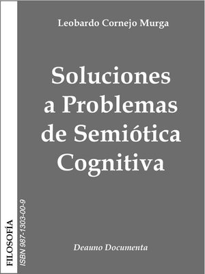 cover image of Soluciones a Problemas de Semiótica Cognitiva