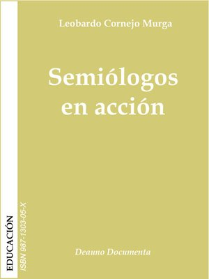 cover image of Semiólogos en acción