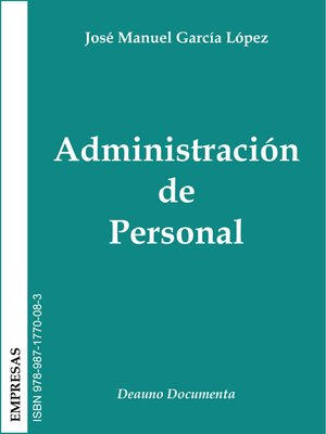 cover image of Administración de Personal