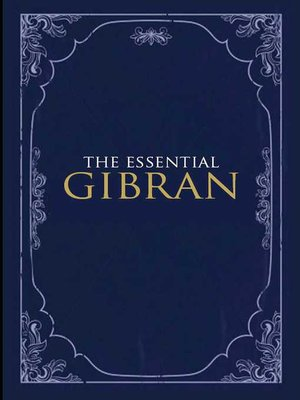 cover image of The Essential Gibran