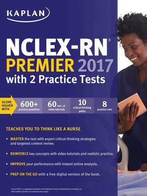 cover image of NCLEX-RN Premier 2017 with 2 Practice Tests