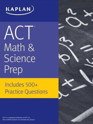 Kaplan test prepseries overdrive rakuten overdrive ebooks cover image of act math science prep fandeluxe Choice Image