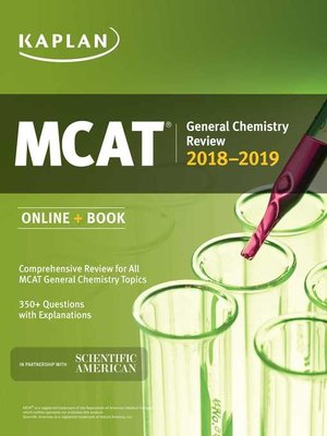 cover image of MCAT General Chemistry Review 2018-2019