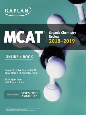 cover image of MCAT Organic Chemistry Review 2018-2019