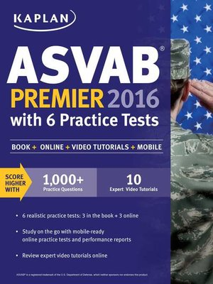 cover image of Kaplan ASVAB Premier 2016 with 6 Practice Tests