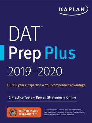 cover image of DAT Prep Plus 2019-2020