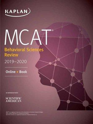 cover image of MCAT Behavioral Sciences Review 2019-2020