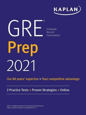 cover image of GRE Prep 2021