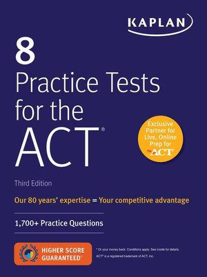cover image of 8 Practice Tests for the ACT