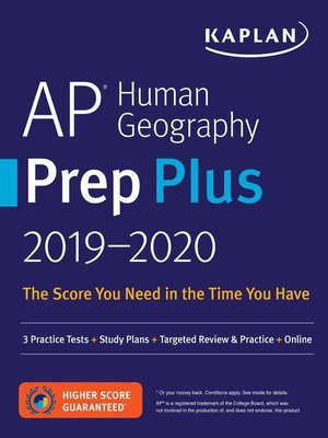 cover image of AP Human Geography Prep Plus 2019-2020