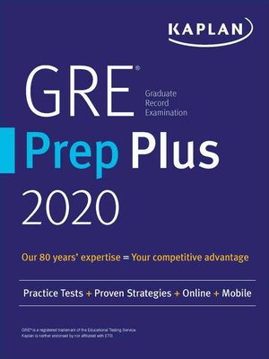 cover image of GRE Prep Plus 2020