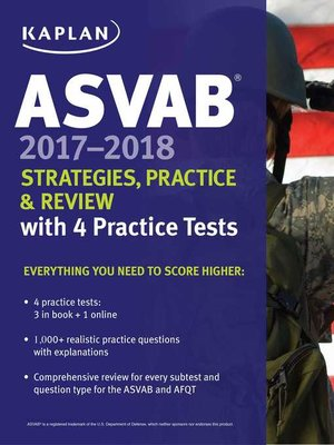 cover image of ASVAB 2017-2018 Strategies, Practice & Review with 4 Practice Tests