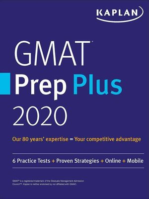 cover image of GMAT Prep Plus 2020