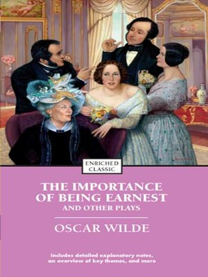 cover image of The Importance of Being Earnest and Other Plays