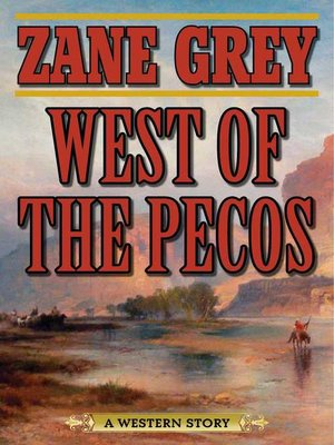cover image of West of the Pecos