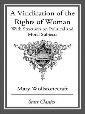cover image of A Vindication of the Rights of Woman