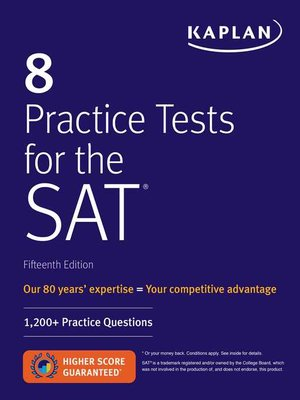 cover image of 8 Practice Tests for the SAT